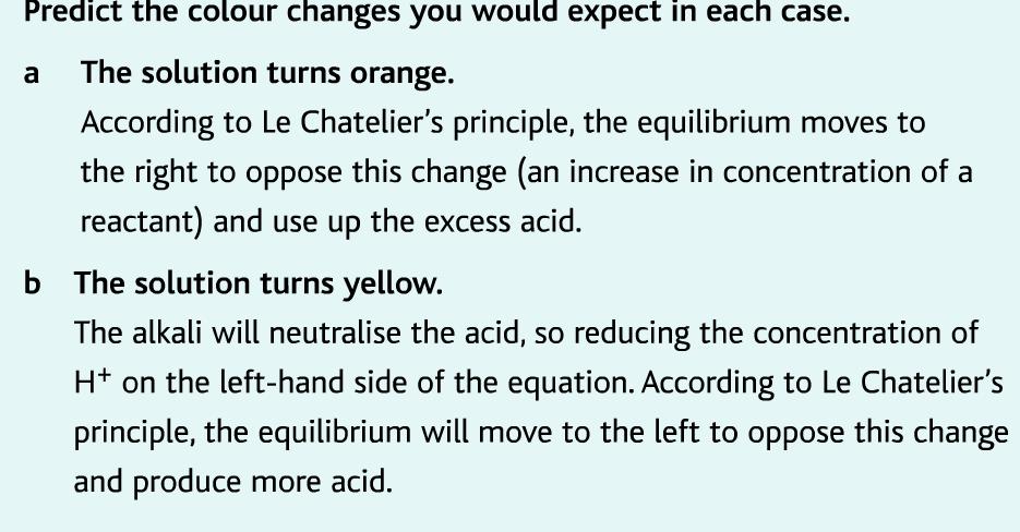 chromate equilibrium color change