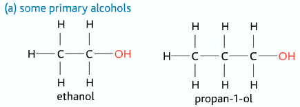 primary alcohols
