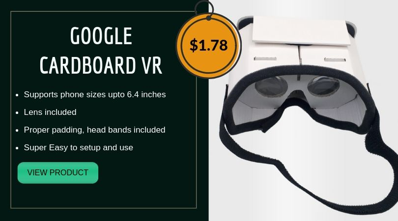 Cheap google cardboard VR