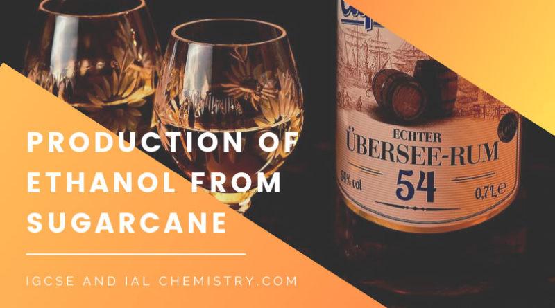 production of ethanol from sugrarcane