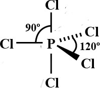shape of molecule phosphorous (v) chloride trigonal bipyramidal